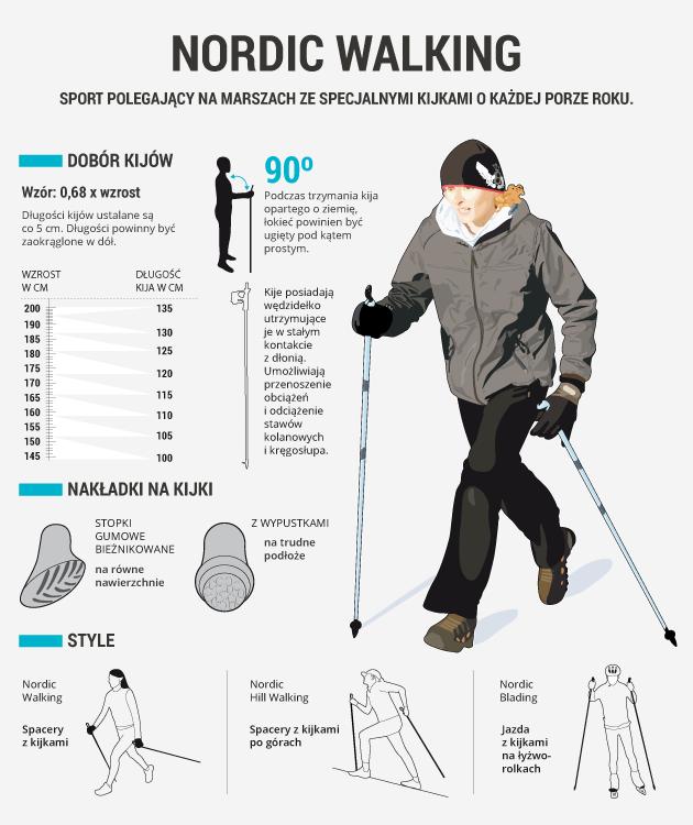 infografika - nordic walking