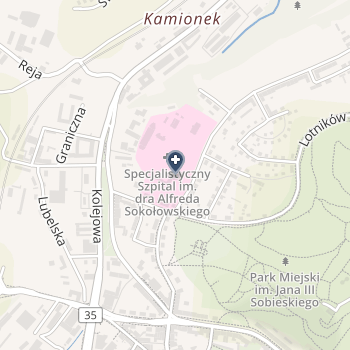 Specjalistyczny Szpital im. Dra Alfreda Sokołowskiego na mapie