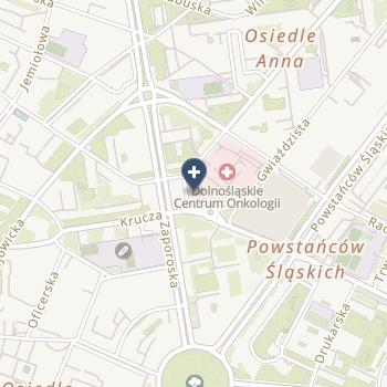 Dolnośląskie Centrum Onkologii we Wrocławiu na mapie