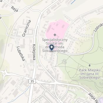"""NZOZ Centrum Stomatologii """"Stomax"""" na mapie"""