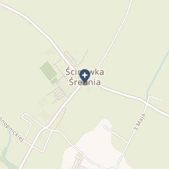 """NZOZ """"Medicus"""" Antoni Wacyk, Joanna Wacyk, Elżbieta Wacyk na mapie"""