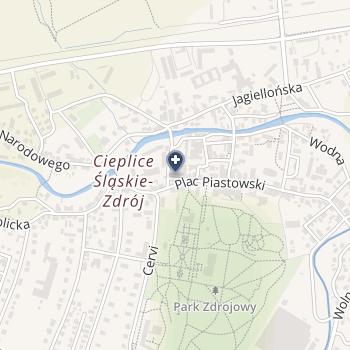 Uzdrowisko Cieplice - Grupa PGU na mapie