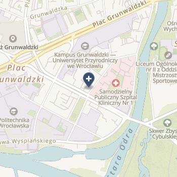 Uniwersytecki Szpital Kliniczny im. Jana Mikulicza-Radeckiego we Wrocławiu na mapie