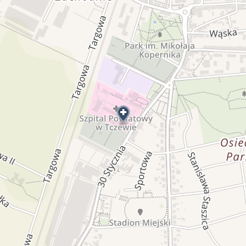Szpitale Tczewskie na mapie