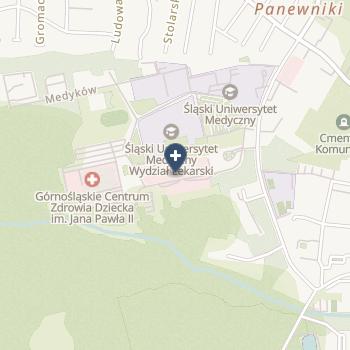 Uniwersyteckie Centrum Kliniczne im. prof. K. Gibińskiego Śląskiego Uniwersytetu Medycznego w Katowicach na mapie