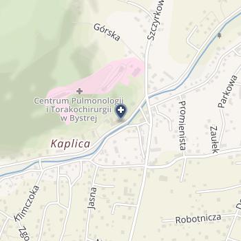 Centrum Pulmonologii i Torakochirurgii w Bystrej na mapie