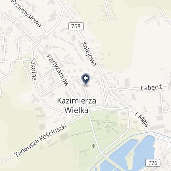 SPZOZ w Kazimierzy Wielkiej na mapie
