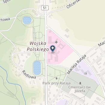 SPZOZ Ministerstwa Spraw Wewnętrznych z Warmińsko-Mazurskim Centrum Onkologii w Olsztynie na mapie