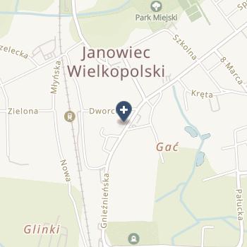 """""""Przychodnia Lekarska"""" w Janowcu Wielkopolskim na mapie"""