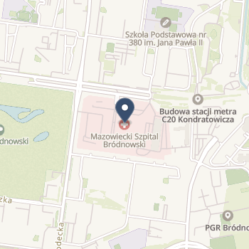 Mazowiecki Szpital Bródnowski w Warszawie na mapie
