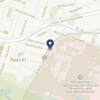 Mazowieckie Specjalistyczne Centrum Zdrowia im.prof. Jana Mazurkiewicza w Pruszkowie na mapie