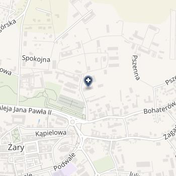 105 Kresowy Szpital Wojskowy z Przychodnią SPZOZ w Żarach na mapie