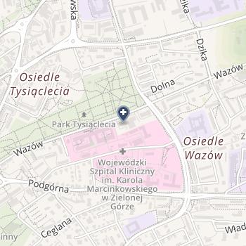 """Poradnia Okulistyczna Specjalistyczna """"Oko"""" na mapie"""