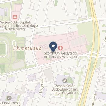 Szpital Uniwersytecki Nr 1 im. dr. Antoniego Jurasza w Bydgoszczy na mapie