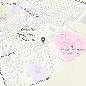 Szpital Powiatowy w Radomsku na mapie