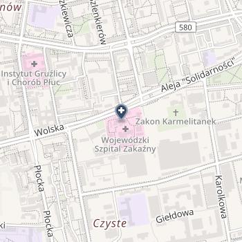 Wojewódzki Szpital Zakaźny w Warszawie na mapie