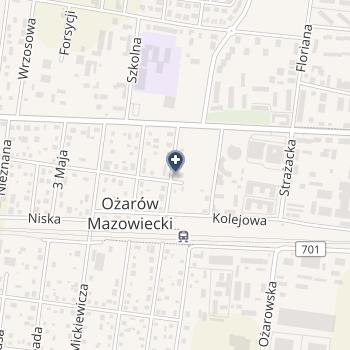 Gminny Samodzielny Publiczny Zakład Lecznictwa Otwartego w Ożarowie Mazowieckim na mapie