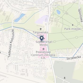 Powiatowe Centrum Zdrowia NZOZ Szpitala Powiatowego w Kluczborku na mapie