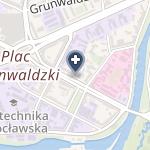 Wielospecjalistyczna Przychodnia Lekarska Fundacji Uniwersytetu Medycznego we Wrocławiu na mapie