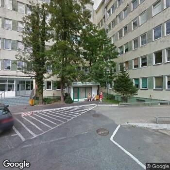 Widok z ulicy Zespół Opieki Zdrowotnej w Złotoryi
