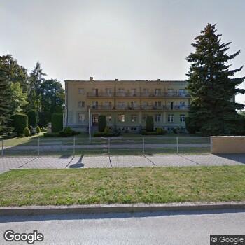 Widok z ulicy 21 Wojskowy Szpital Uzdrowiskowo-Rehabilitacyjny - SPZOZ w Busku Zdroju