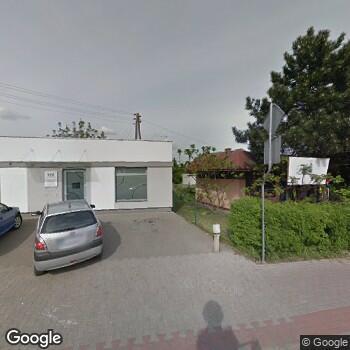 Widok z ulicy Praktyka Stomatologiczna Trident Czempiń