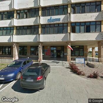 Widok z ulicy Poznański Ośrodek Specjalistyczny Usług Medycznych