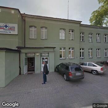 """Widok z ulicy Centrum Medyczne """"Zachód"""""""