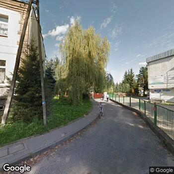 Widok z ulicy Szpital Powiatowy im. Dr A.Gacy i Dr J.Łaskiego - NZOZ w Więcborku