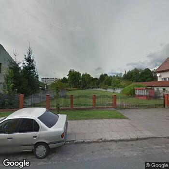 Widok z ulicy Nowy Szpital w Kostrzynie nad Odrą