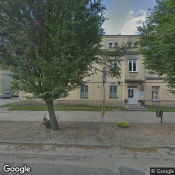 Widok z ulicy Wojewódzki Zespół Zakładów Opieki Zdrowotnej Centrum Leczenia Chorób Płuc i Rehabilitacji w Łodzi