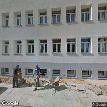 Widok z ulicy Zespół Opieki Zdrowotnej Łódź-Bałuty
