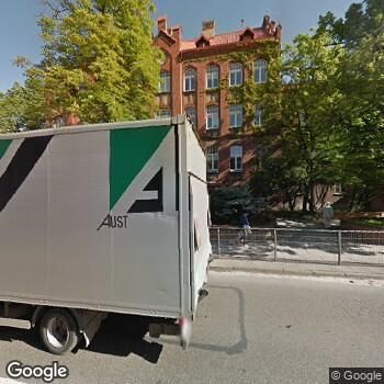 Widok z ulicy SPZOZ Ministerstwa Spraw Wewnętrznych