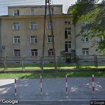 Widok z ulicy Międzyleski Szpital Specjalistyczny w Warszawie